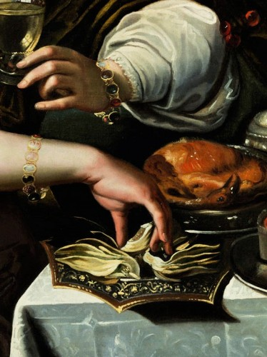 Allegory of Taste - Attributed to A. Janssens (1575-1632) -