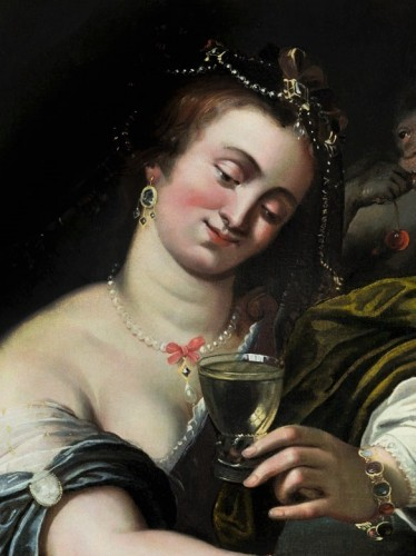 17th century - Allegory of Taste - Attributed to A. Janssens (1575-1632)