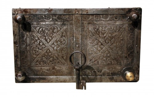 Curiosities  - 16th C. Nuremberg Etched Iron Casket