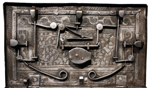 Renaissance - 16th C. Nuremberg Etched Iron Casket