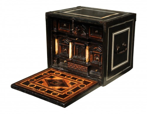 Late 16th C. Augsburg Inlaid Cabinet