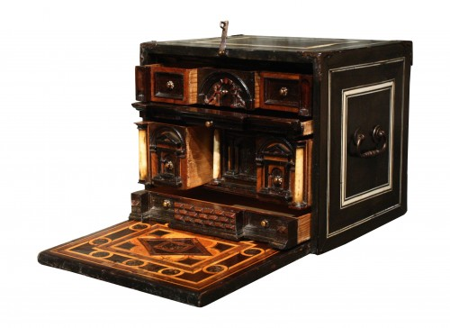 Late 16th C. Augsburg Inlaid Cabinet - Furniture Style Renaissance