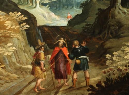 17th Antwerp School, Landscape, Oil On Panel -