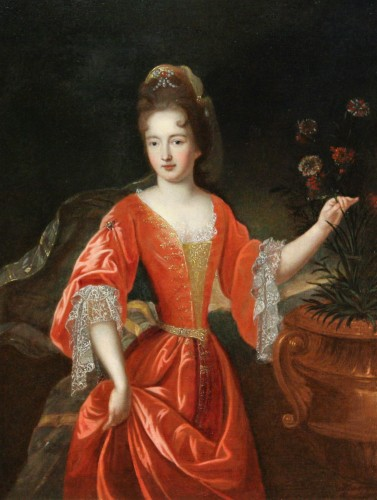 Portrait Of Francoise-Marie De Bourbon, Workshop Of Pierre Gobert, Late 17t
