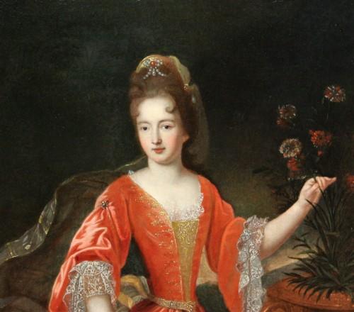 Portrait Of Francoise-Marie De Bourbon, Workshop Of Pierre Gobert, Late 17t - Paintings & Drawings Style Louis XIV
