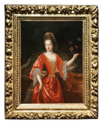 Paintings & Drawings  - Portrait Of Francoise-Marie De Bourbon, Workshop Of Pierre Gobert, Late 17t