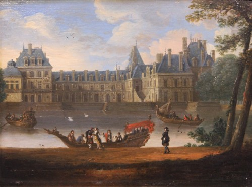 View Of The Palace Of Fontainebleau - French School Circa 1660