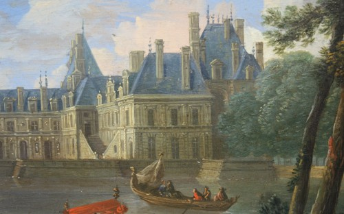 Paintings & Drawings  - View Of The Palace Of Fontainebleau - French School Circa 1660