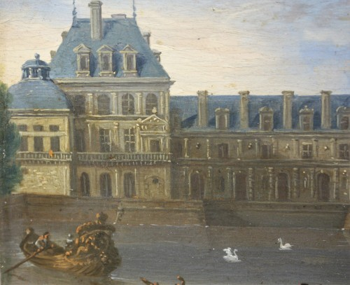 View Of The Palace Of Fontainebleau - French School Circa 1660  -