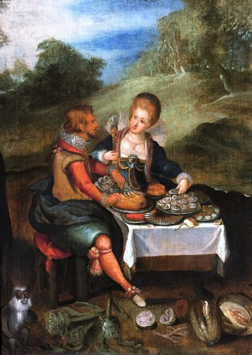 Sense Of Taste, Workshop of  Louis De Caullery (1580-1621)