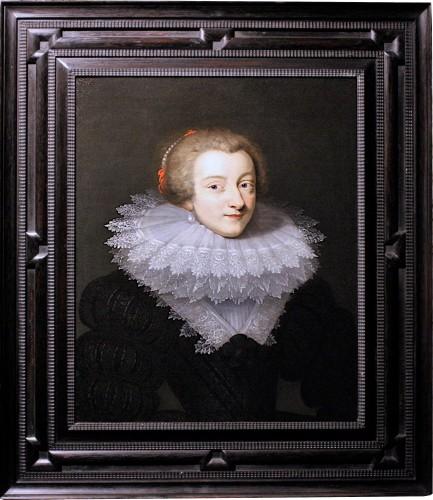 Portrait Of Marie De Rohan, Circa 1620 - Circle Of Daniel Dumonstier - Paintings & Drawings Style Louis XIII