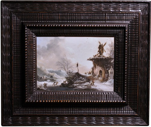 Winter Landscape with The Mill, Circle of Klaes Molenaer, 17th Century - Paintings & Drawings Style Louis XIII