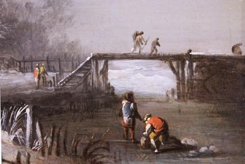 Winter Landscape at the farm, Circle of Klaes Molenaer, 17th Century -