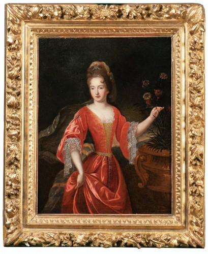Portrait Of Francoise-Marie De Bourbon, Workshop Of Pierre Gobert