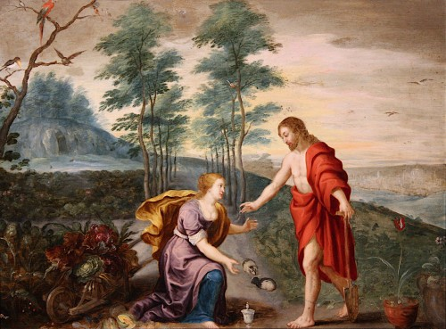 Noli mi tangere, mid-17th c., circle Jan Brueghel et Peter Paul Rubens