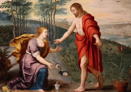 Louis XIII - Noli mi tangere, mid-17th c., circle Jan Brueghel et Peter Paul Rubens