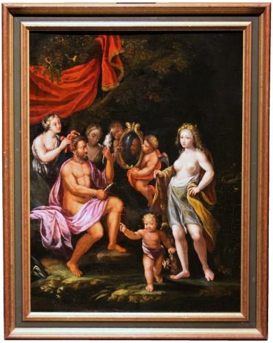 Paintings & Drawings  - Early 17th C. Veronese (italian) School, Hercules And Omphale