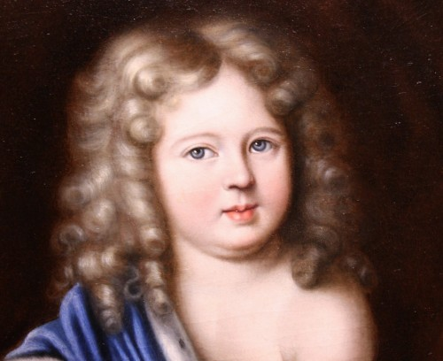 Portrait of Duc d'Anjou as a child, workshop of Pierre Mignard (1612-1695) - Paintings & Drawings Style Louis XIV