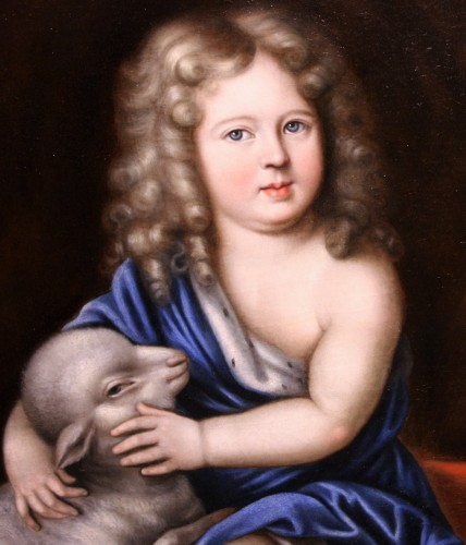 Paintings & Drawings  - Portrait of Duc d'Anjou as a child, workshop of Pierre Mignard (1612-1695)