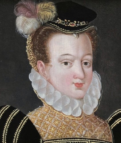 Paintings & Drawings  - Elisabeth of Austria, circle of  François Clouet, 16th Century