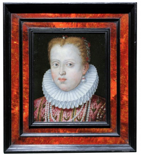 Portrait of Marguerite de Gonzague, attributed to Lavinia Fontana, c. 1578