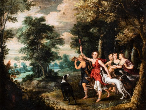 Diana and Her Nymphs, attributed to Frans Wouters, 17th c.