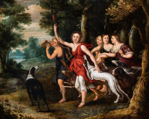 Paintings & Drawings  - Diana and Her Nymphs, attributed to Frans Wouters, 17th c.