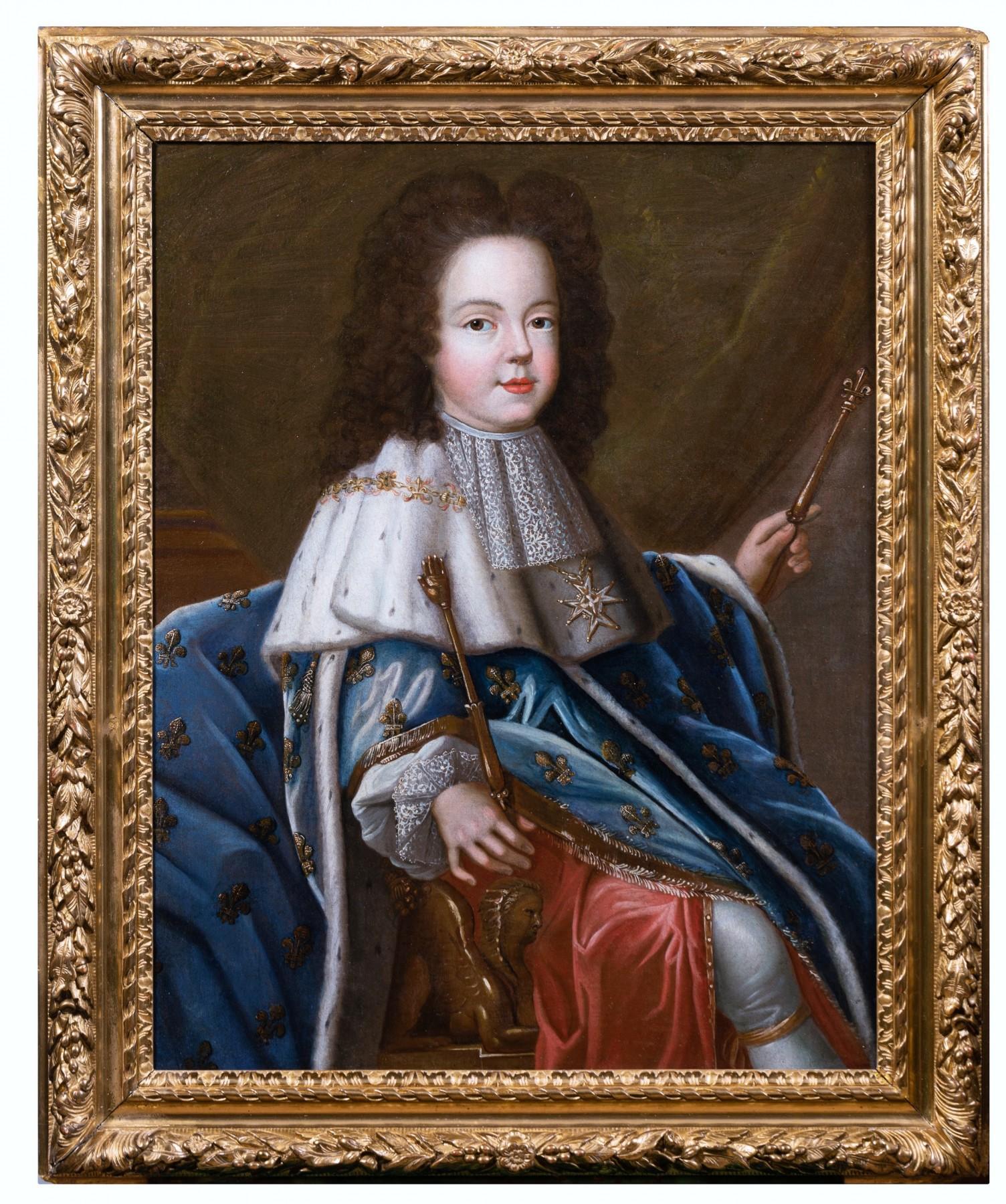 Portrait de Louis XV enfant, atelier de Pierre Gobert vers 1716 - XVIIIe  siècle - N.88073