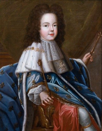 Portrait of Louis XV as a child, workshop of Pierre Gobert  c. 1716 - Paintings & Drawings Style Louis XV