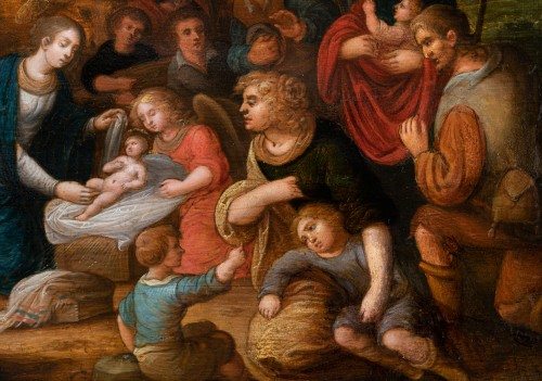 17th century - Adoration of the shepherds, workshop Louis de Caullery, early 17th century
