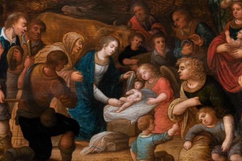 Antiquités - Adoration of the shepherds, workshop Louis de Caullery, early 17th century
