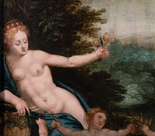 Paintings & Drawings  - Allegory of Love, attributed to Hendrick de Clerck, 17th century