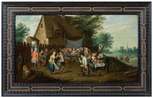 Village wedding attributed to D. Teniers, 17th century