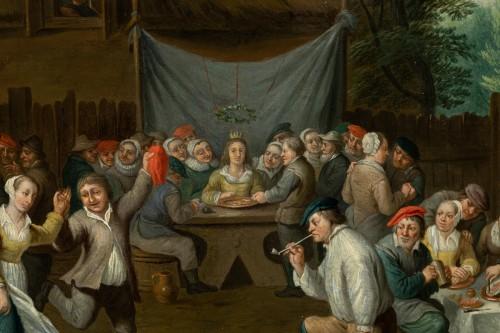 Village wedding attributed to D. Teniers, 17th century -