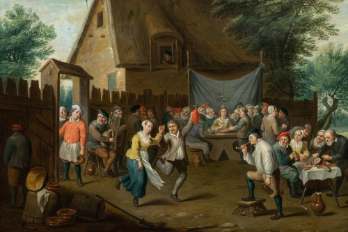 Louis XIV - Village wedding attributed to D. Teniers, 17th century