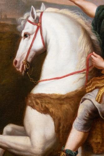 Paintings & Drawings  - Equestrian portrait of Philippe of Orleans, workshop of Pierre Mignard