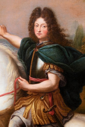 Equestrian portrait of Philippe of Orleans, workshop of Pierre Mignard -