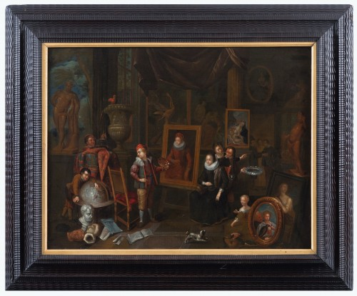 Artist's studio, attributed to Gerard Thomas (Antwerp, 1663 -1720) - Paintings & Drawings Style Louis XIV