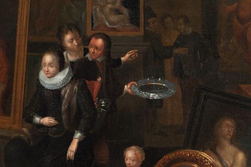 Paintings & Drawings  - Artist's studio, attributed to Gerard Thomas (Antwerp, 1663 -1720)