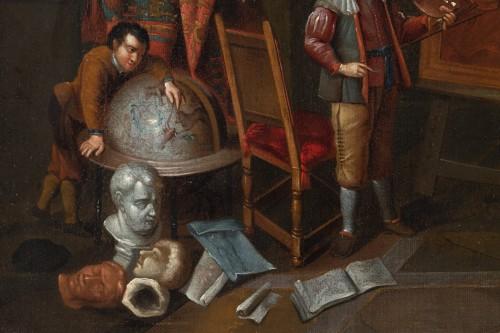 Artist's studio, attributed to Gerard Thomas (Antwerp, 1663 -1720) -