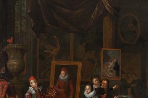 Artist's studio, attributed to Gerard Thomas (Antwerp, 1663 -1720) - Louis XIV