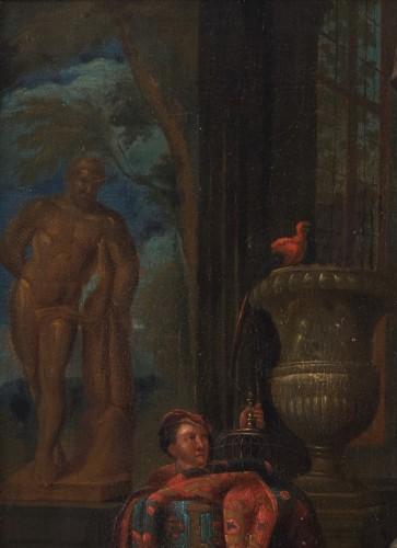 Louis XIV - Artist's studio, attributed to Gerard Thomas (Antwerp, 1663 -1720)