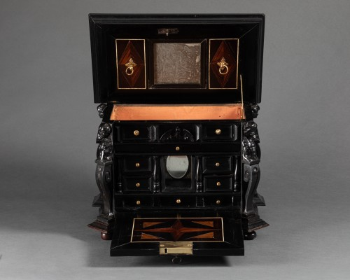 Furniture  - An Antwerp 17th c. ebony jewel cabinet