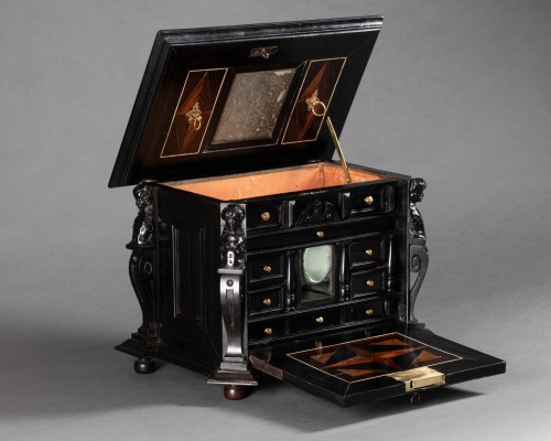 An Antwerp 17th c. ebony jewel cabinet -