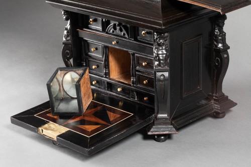 An Antwerp 17th c. ebony jewel cabinet - Louis XIV