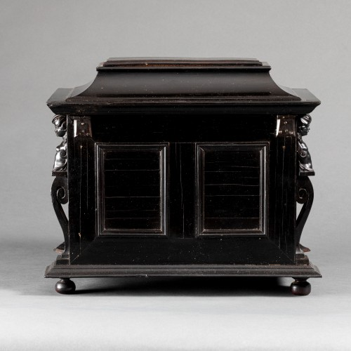 Louis XIV - An Antwerp 17th c. ebony jewel cabinet