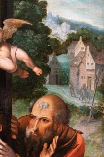 Holy family with an angel, workshop Pieter Coecke Van Aelst (1502-1550) -
