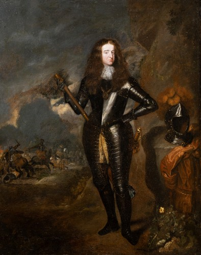 William III, Prince of Orange, workshop C. Netscher (The Hague, 1668-1723) - Paintings & Drawings Style Louis XIV