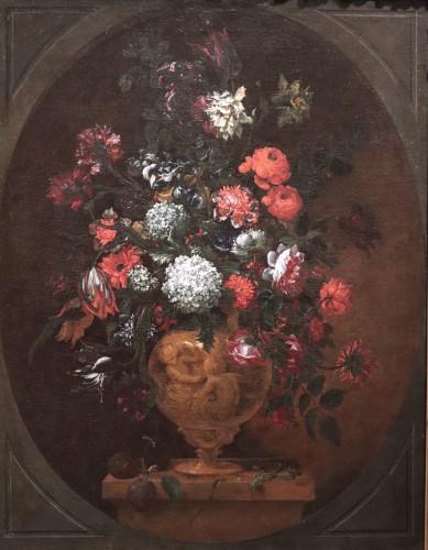 Bartolomeo Bimbi (florence1648-1729) - Vase Of Flowers - Paintings & Drawings Style Louis XIV