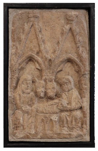 "Stone bas-relief ""nativity"" 14th century - Sculpture Style Middle age"